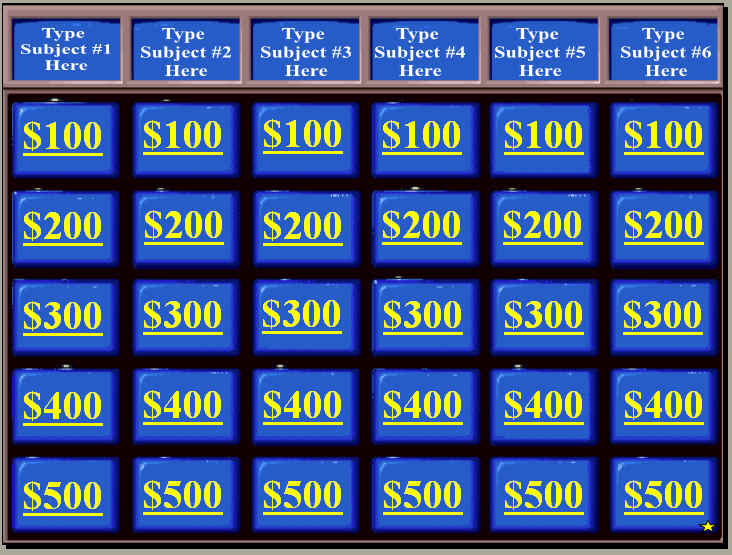 Clip Art Jeopardy Sound Clip powerpoint review game templates